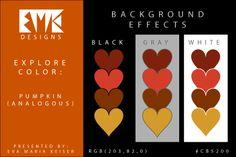 "Eva Maria Keiser Designs: Explore Color Background Effects: ""Pumpkin"" (Analo..."