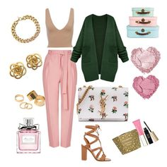 """""""Cutie"""" by k4sh on Polyvore featuring Topshop, Gianvito Rossi, Yves Saint Laurent, Michael Kors, Pieces, Clarins and Christian Dior"""