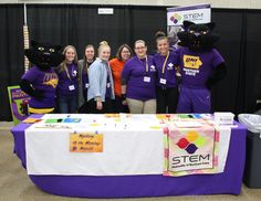 UNI STEM Ambassadors with TK and TC at the 2018 Cedar Valley STEM festival.