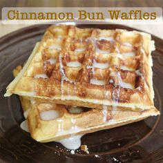 Great for Mother's Day! Cinnamon Bun Waffles! #glutenfree