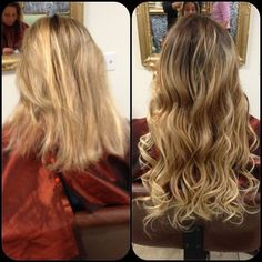 HAIR EXTENSIONS- before and after pictures | Before and after micro beads hair extensions