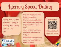 Join us @ Waldorf West for our Literary Speed Dating program