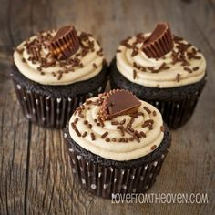 Peanut Buttercup cupcake with butter cream frosting