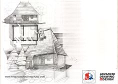 Freehand Architecture - Architectural Drawing and Design Case, Traditional House, Big Ben, Minis, Sketch, Houses, History, Drawings, Building