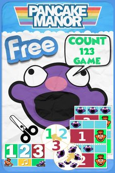 FREE! Printable 123 Count Game Based Off Pancake Manor's Count 123 Song