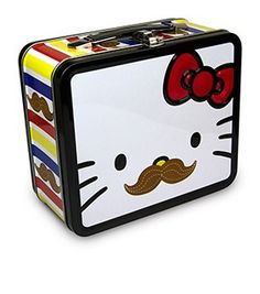 Hello Kitty Mustache Face Lunch Box