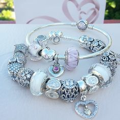bracciale pandora cuore rosa