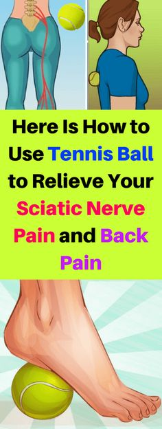 Here Is How To Use Tennis Ball To Relieve Your Sciatic Nerve Pain & Back Pain!!! - All What You Need Is Here