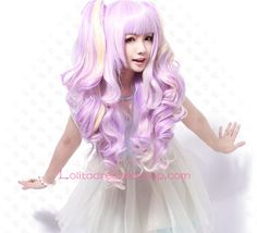 Cheap Lolita Curly Purple Sweet Girl Maid Cute Cosplay Wig Sale At Lolita Dresses Online Shop. We provide Lolita products with quality and best service online, lower price and top style fashion for you. Cute Cosplay, Cosplay Wigs, Sweet Girls, Cute Girls, Light Purple Hair, Rainbow Wig, Lolita Cosplay, Lolita Dress, Gothic Lolita