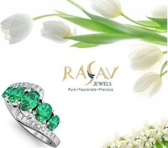 #Perplexing 14k #WhiteGold fancy cut #Emerald and #Diamond #Engagement #Ring By @rasavjewels