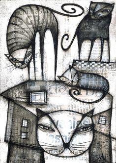 Dan Casadogatos: letrados, ilustración.