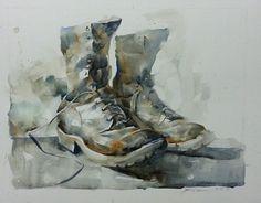 Bhira - 'The partner' Sennelier watercolor on Canson Montval 30×40 cm