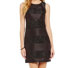 Nwt Vince Camuto sparkle dress No flaws new with black sparkle detail bust 18 length 35 Vince Camuto Dresses Midi