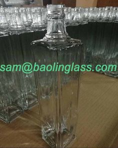 French square vodka bottle wholesale supplier