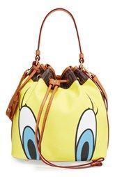 Moschino & # 160; 'Looney & # 160; Tunes - Tweety & # 160; & Sylvester' Bucket Bag