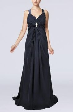 Chiffon Straps Party Gown - Order Link: http://www.theweddingdresses.com/chiffon-straps-party-gown-twdn7545.html - Embellishments: Paillette , Pleated , Sequin; Length: Sweep/Brush Train; Fabric: Chiffon; Waist: Empire - Price: 132.99USD