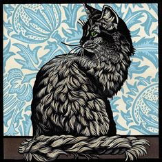 Linocut by Jill Kerr Linocuts #linoprint #handprinted #blockprint
