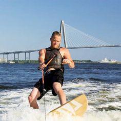 Wakeboarding in Charleston Harbor