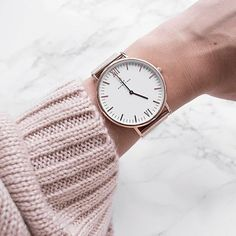 honor your style and make it personal! - just like @millatawast. Our beautiful mesh watch | kapten-son.com
