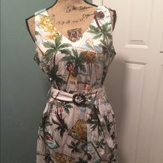 Sheri Martin Tie Belted Dres Sheri Martin Tie Belted Sundress Hawaiian Theme; size 12P; excellent condition; well-made garment. **BUNDLE** for @ladawnsafox: Guess Daryl, Prototype, Liv, Limited Belted, Charlotte Russo Black top. Sheri Martin Dresses