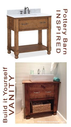 How to make your own bathroom vanity! The tutorial and plans are here! #bathroom_vanity #how_to