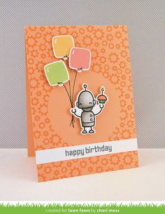 Lawn Fawn - Beep Boop Birthday + coordinating dies _ by Chari for Lawn Fawn Design Team