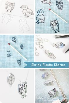 Berlocker av krympplast – Shrink plastic charms   Craft & Creativity – Pyssel & DIY