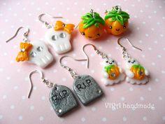Halloween earrings by virahandmade on DeviantArt