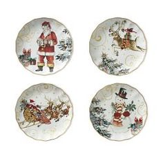 u0027Twas the Night Before Christmas Dinner Plates Santa Set of 4  sc 1 st  Pinterest & Retired Halloween Tin Plates from Restoration Hardware. Set of four ...