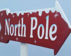 north pole sign post - Recherche Google
