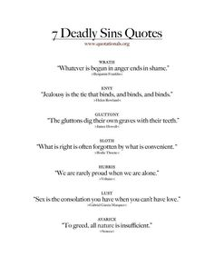 Quotes about the 7 deadly sins . - Quotes about the 7 deadly sins … quotes truths # Deadly sins - Sin Quotes, Poem Quotes, True Quotes, Words Quotes, Quotes To Live By, Best Quotes, Quotes About Sin, Latin Quotes About Life, Quotes About Tattoos