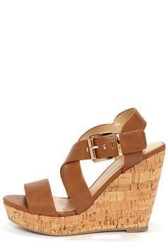 91b070e1b3b My Delicious Baymist Tan Platform Wedge Sandals
