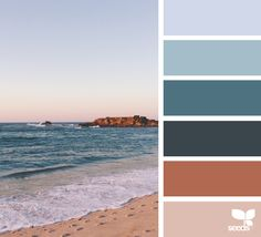 Sea inspired color palette from Design Seeds. Colour Pallette, Colour Schemes, Color Combos, Color Harmony, Color Balance, Color Concept, Color Palette Challenge, Design Seeds, Color Stories