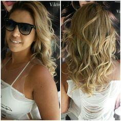 Ombré Tropical #cabelos #hair #hairstyle #blond #blondhair #loirodossonhos #redken #ondaspoderosas #tratamento