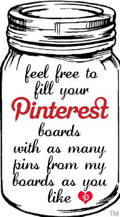 feel free to fill your Pinterest boards with as many pins from my boards as you like <3 Tam <3