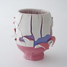 Pink-sky-slipped Kairagi Shino bowl