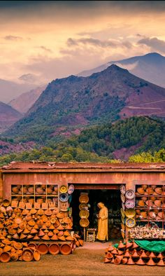 Tagine Shop, Atlas Mountains, Morocco by Bill Winters
