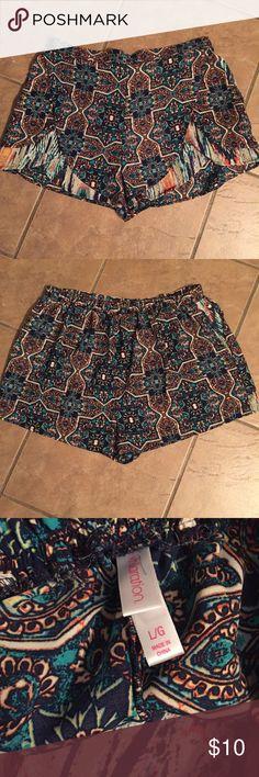 Boho tulip shorts Boho tulip shorts with elastic waist. Cute! Xhilaration Shorts