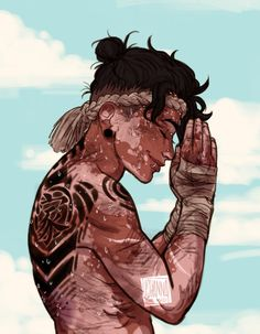 Vitiligo Definition Vitiligo is a disease that causes loss of skin color . How extensively vitiligo can affect a person's skin and how sev. Character Portraits, Character Drawing, Character Concept, Concept Art, Male Character Design, Dnd Characters, Fantasy Characters, Art Sketches, Art Drawings