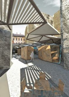 Hungary based studio Atelier Architects recently received a special mention for their Artist's Colony Market design in a