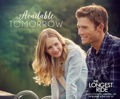 Tomorrow, own the most romantic movie since The Notebook. The Longest Ride Quotes, The Longest Ride Movie, Luke Collins, Nicholas Sparks Movies, Britt Robertson, Riding Quotes, Scott Eastwood, Dear John, Romance Movies
