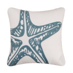 Starfish Decorator Pillow - Sea Green and White 18 X 18 Beach Ocean Florida Gifts,http://www.amazon.com/dp/B0052UPVRK/ref=cm_sw_r_pi_dp_XE97sb0DGY13Y9WJ