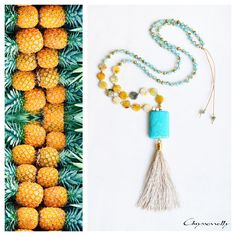 - Long boho beaded tassel necklace with turquoise and beige chaolite stones, yellow jasper stones and turquoise crystals. Beaded Tassel Necklace, Boho Designs, Jasper Stone, Fashion Art, Fashion Design, Boho Chic, Tassels, Etsy Shop, Turquoise