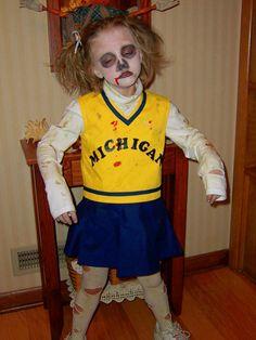 Zombie cheerleader halloween makeup tutorial halloween little zombie cheerleader costume ohio thoughts halloween costume ideas part 2 solutioingenieria Gallery