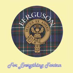 For Everything Genealogy - Clan Ferguson Clan Crest Tartan Cork Round Coasters Set of 2, $12.00 (http://foreverythinggenealogy.mybigcommerce.com/clan-ferguson-clan-crest-tartan-cork-round-coasters-set-of-2/)