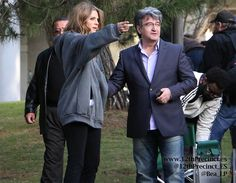 Stana Katic Castle BTS 6x22