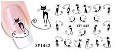 20Pcs-Cute-Black-Cat-Halloween-Nail-Art-Water-Transfer-Slide-Decals-Sticker-Tips
