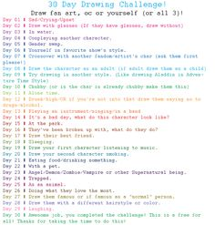 30 Day Drawing Challenge (Fan art, self or OC! ) by GanymedeZero.deviantart.com on @DeviantArt
