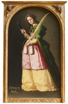 St Apolonia. Zurbarán. Oil on canvas. 113 x 66 cm. Musée du Louvre. Paris.