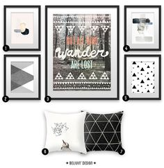 Home decoration art prints inspired by winter